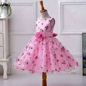Other - New! Pink Floral Tulle Easter Dress - Kids 3/4